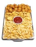 τρόφιμα που τηγανίζονται Στοκ Εικόνες