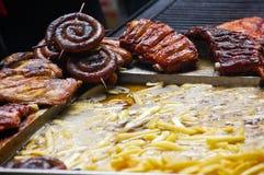 τρόφιμα που τηγανίζονται Στοκ φωτογραφίες με δικαίωμα ελεύθερης χρήσης