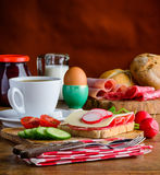 Τρόφιμα προγευμάτων πρωινού Στοκ Φωτογραφία
