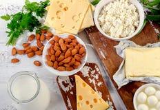 Τρόφιμα πλούσια σε ασβέστιο στοκ εικόνες με δικαίωμα ελεύθερης χρήσης
