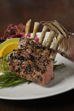 Τρόφιμα: ράφι των μπριζολών αρνιών Στοκ Φωτογραφίες