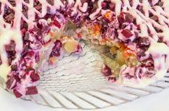 Τρόφιμα, σαλάτα, ψάρια, θαλασσινά, γαστρονομικά, μεσημεριανό γεύμα Στοκ Εικόνες