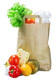 Τρόφιμα σε μια τσάντα εγγράφου Στοκ φωτογραφία με δικαίωμα ελεύθερης χρήσης