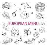 Τρόφιμα σκίτσων Doodle Στοκ φωτογραφία με δικαίωμα ελεύθερης χρήσης