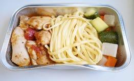 Τρόφιμα στα αεροσκάφη Στοκ φωτογραφία με δικαίωμα ελεύθερης χρήσης