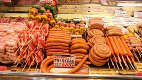 Τρόφιμα στην αγορά Kuroshio, Wakayama, Ιαπωνία Στοκ Φωτογραφία