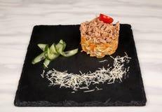 Τρόφιμα στο πιάτο στοκ φωτογραφίες