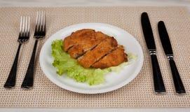 Τρόφιμα στο πιάτο στοκ εικόνες