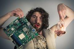 Τρόφιμα τεχνολογίας Caveman Στοκ εικόνα με δικαίωμα ελεύθερης χρήσης