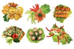 Τρόφιμα της Ιαπωνίας που απομονώνονται Στοκ εικόνες με δικαίωμα ελεύθερης χρήσης