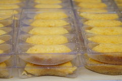 Τρόφιμα της Κίνας: Πατατάκια μπανανών Στοκ Εικόνες