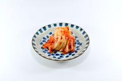 Τρόφιμα της Κορέας Kimchi στο άσπρο υπόβαθρο Στοκ Εικόνες