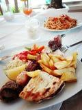 Τρόφιμα της Κρήτης Ελλάδα Chania Στοκ φωτογραφία με δικαίωμα ελεύθερης χρήσης