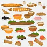 Τρόφιμα της Μέσης Ανατολής Παραδοσιακά cusine και ποτά στο άσπρο υπόβαθρο Στοκ φωτογραφίες με δικαίωμα ελεύθερης χρήσης