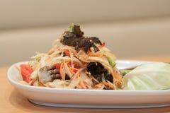Τρόφιμα της Ταϊλάνδης: Σαλάτα καβουριών στοκ εικόνες