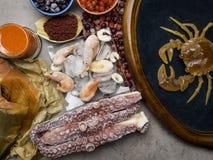 Τρόφιμα υψηλά Astaxanthin στο αντιοξειδωτικό, ιώδιο Υγιής έννοια διατροφής r στοκ εικόνα με δικαίωμα ελεύθερης χρήσης