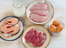 Τρόφιμα υψηλά στην πρωτεΐνη Στοκ φωτογραφία με δικαίωμα ελεύθερης χρήσης