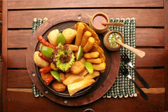 τρόφιμα χαρακτηριστικά Στοκ Εικόνες