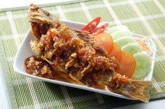 τρόφιμα ψαριών της Ασίας που τηγανίζονται Στοκ Εικόνες