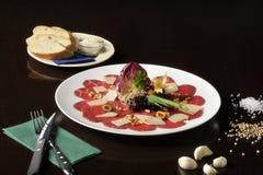 Τρόφιμα: carpaccio Στοκ Εικόνες