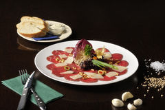 Τρόφιμα: carpaccio Στοκ Εικόνα