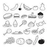 Τρόφιμα Doodle Στοκ φωτογραφία με δικαίωμα ελεύθερης χρήσης