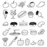 Τρόφιμα Doodle Στοκ Εικόνα