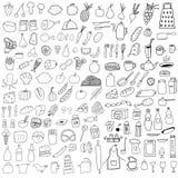 Τρόφιμα doodles ελεύθερη απεικόνιση δικαιώματος
