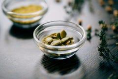 Τρόφιμα ingradients στον πίνακα Στοκ Εικόνες