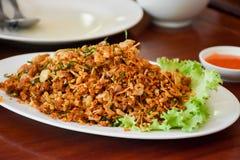 Τρόφιμα Larb Isan Ταϊλάνδη ψαριών Στοκ Φωτογραφία