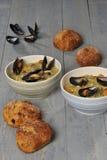 Τρόφιμα musselsoup Στοκ Φωτογραφίες