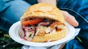 Τρόφιμα Peruvien κουλουριών Chicharron Στοκ Εικόνες
