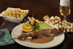 Τρόφιμα: satey με τη σάλτσα φυστικιών Στοκ φωτογραφία με δικαίωμα ελεύθερης χρήσης