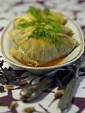 Τρόφιμα Vegan - γεμισμένο λάχανο Στοκ εικόνες με δικαίωμα ελεύθερης χρήσης