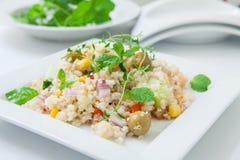 Τρόφιμα Vegan στο πιάτο Στοκ Φωτογραφία