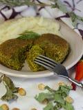 Τρόφιμα Vegan - fritter φακή Στοκ Εικόνες