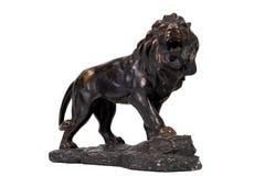 τρύγος αγαλμάτων βασικών λιονταριών διακοσμήσεων στοκ φωτογραφίες