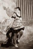 τρύγος αιθουσών κοριτσ&iot Στοκ Φωτογραφίες