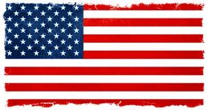 τρύγος αμερικανικών σημαιών Αποτελέσματα εκλογής υποβάθρου εμβλημάτων Στοκ Φωτογραφίες