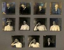 τρύγος αποδείξεων πορτρέτου στοκ φωτογραφίες