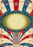 τρύγος αφισών τσίρκων Στοκ εικόνα με δικαίωμα ελεύθερης χρήσης