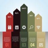 Τρύγος βελών διαγραμμάτων Infographic Στοκ εικόνα με δικαίωμα ελεύθερης χρήσης