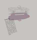 τρύγος γραμμών σχεδίων σχεδίου αυτοκινήτων απεικόνιση αποθεμάτων