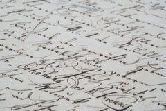 τρύγος γραφής Στοκ φωτογραφία με δικαίωμα ελεύθερης χρήσης