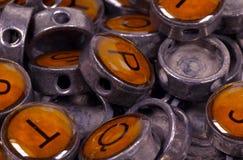 τρύγος γραφομηχανών κουμπιών στοκ φωτογραφία