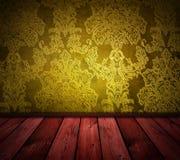 τρύγος δωματίων κίτρινος Στοκ φωτογραφία με δικαίωμα ελεύθερης χρήσης