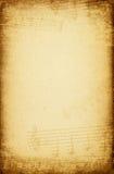 τρύγος εγγράφου μουσι&kapp Στοκ φωτογραφία με δικαίωμα ελεύθερης χρήσης