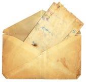 τρύγος εγγράφου φακέλων Στοκ φωτογραφία με δικαίωμα ελεύθερης χρήσης