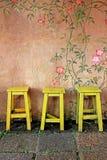 τρύγος εδρών ξύλινος Στοκ φωτογραφίες με δικαίωμα ελεύθερης χρήσης