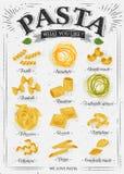 Τρύγος ζυμαρικών αφισών Στοκ εικόνα με δικαίωμα ελεύθερης χρήσης